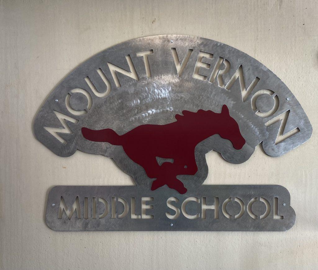 Mustang metal sign