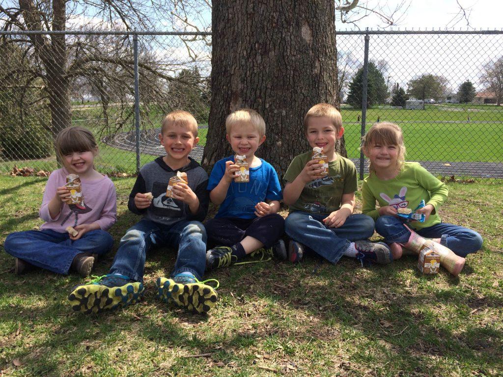 Preschool Students Taking a Milk Break 050214 2