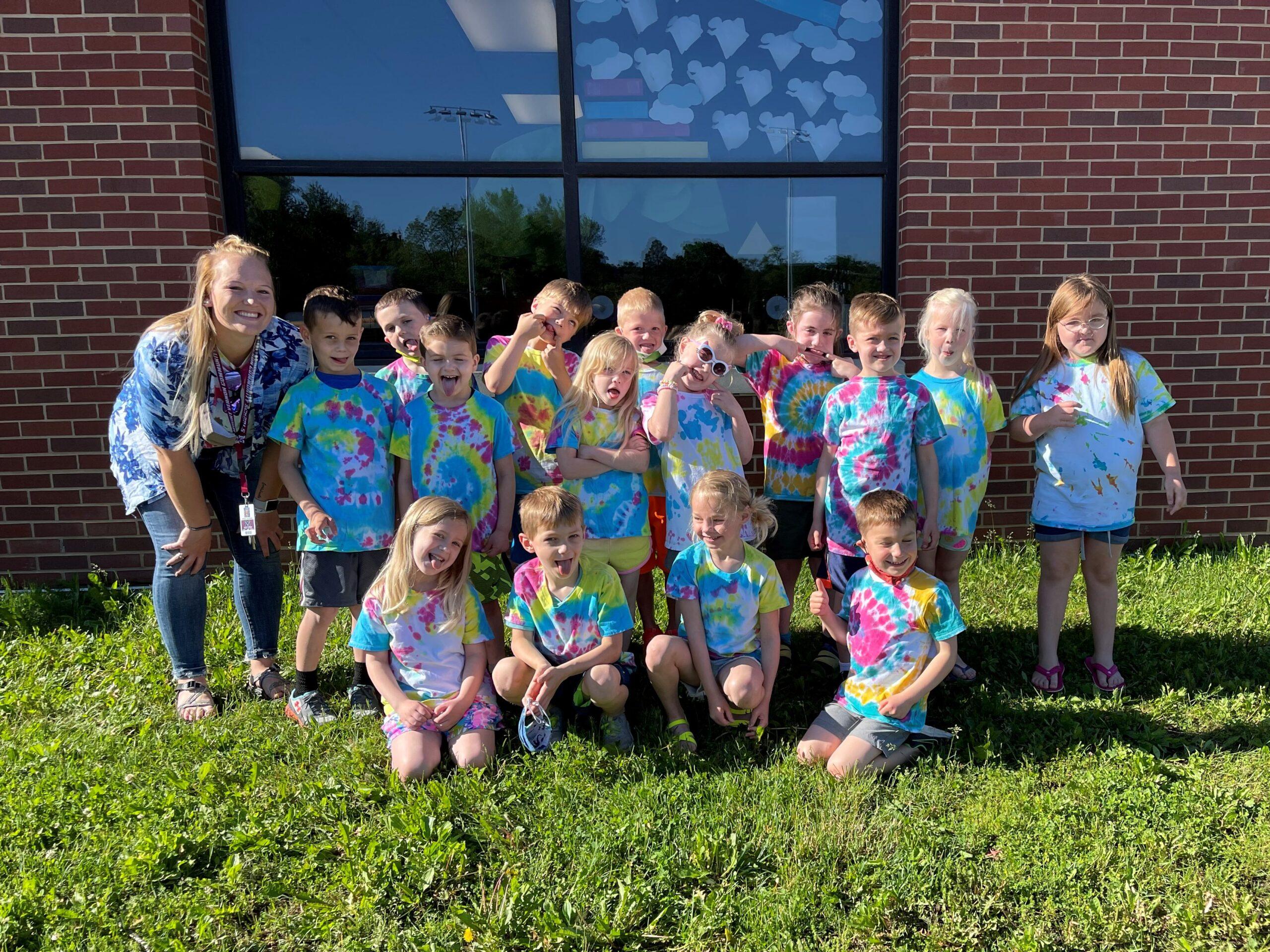 Miss H class in tie dye